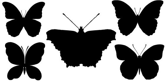 560x279 Butterfly Silhouette Vector Free Vector Download (7,111 Free