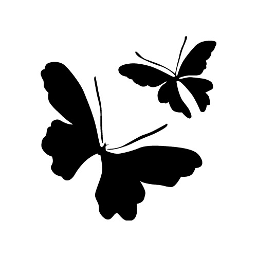 500x500 Vector Eps Material Free Download Butterfly