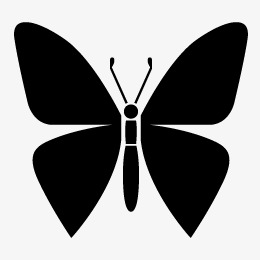 260x260 Butterfly Silhouette, Butterfly, Sketch Png And Vector For Free