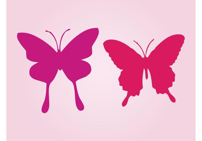 700x490 Butterfly Silhouette Free Vector Art