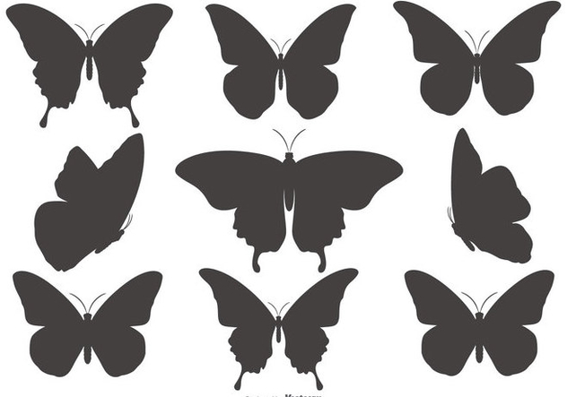632x443 Butterfly Silhouette Shapes Collection Free Vector Download 432327