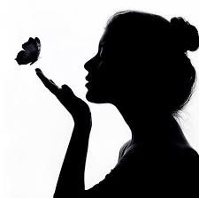 Butterfly Swimmer Silhouette