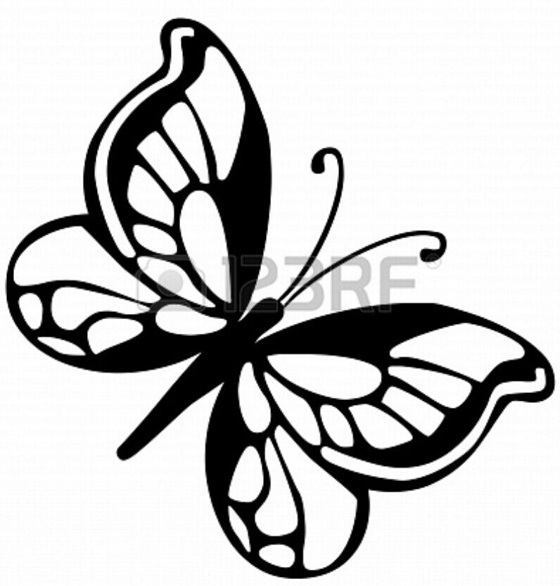 796x832 Butterfly Template Stencil. From Coloring Pictures