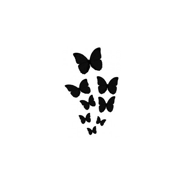 600x600 Silhouettes Home Gt Body Art Gt Animals Amp Flowers Gt Butterfly