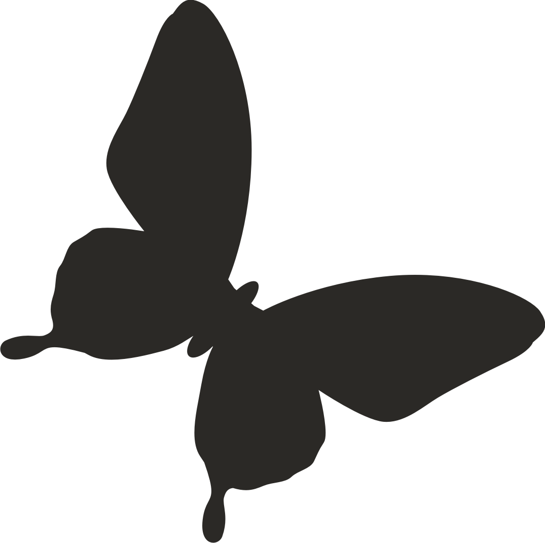 1075x1071 Flying Butterfly Silhouette Vector
