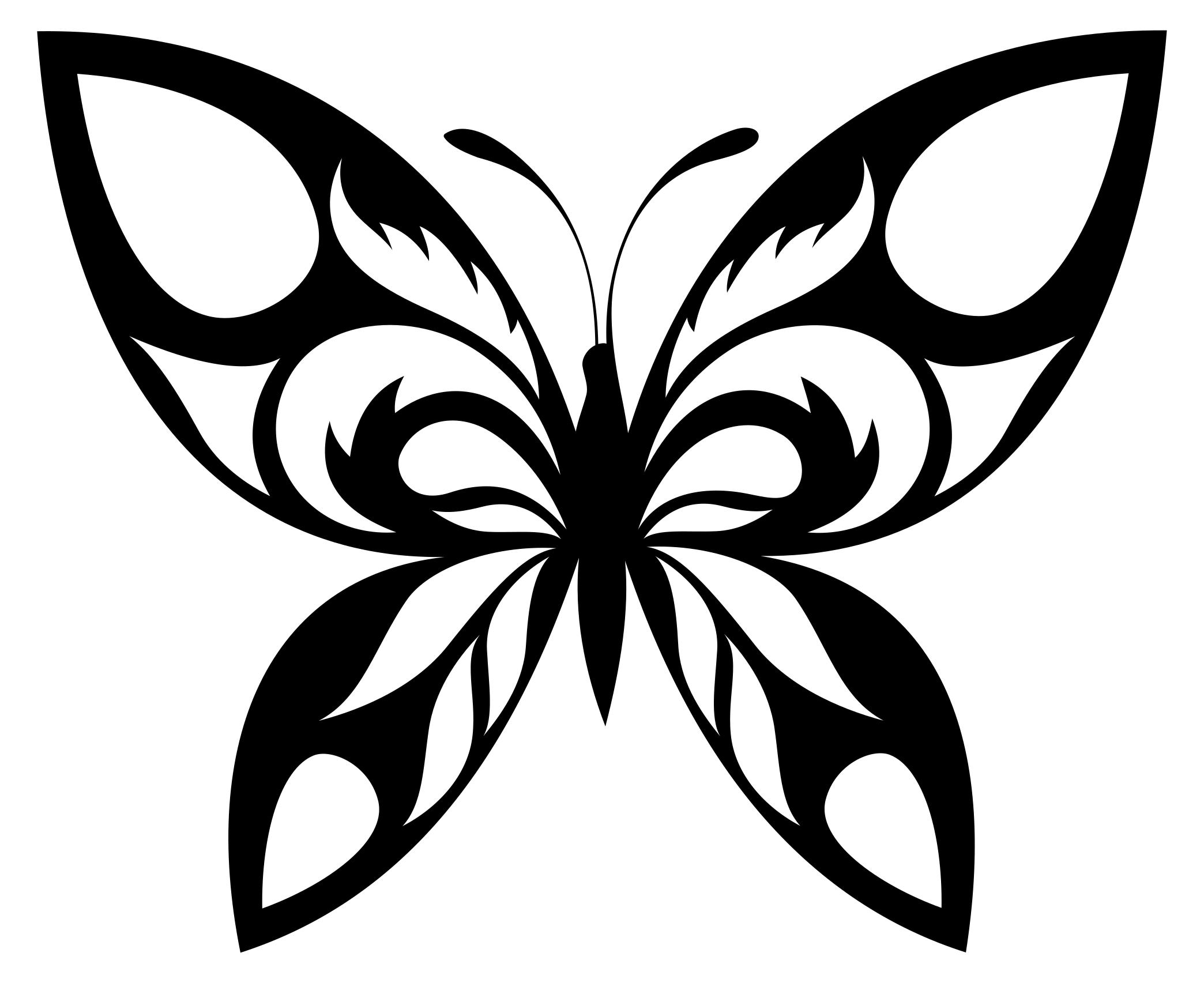 2088x1705 Tribal Butterfly Silhouette Clipart