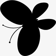 190x191 Butterfly, Black, Butterfly Silhouette, Butterfly Vector Png