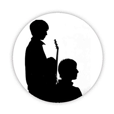 385x385 Oasis Noel And Liam (Silhouette) Instruments Button Badge 38mm