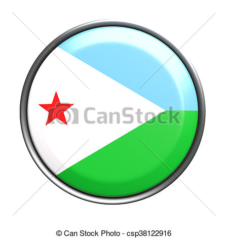 450x470 Silhouette Of Djibouti Button. 3d Rendering Of Djibouti Clipart