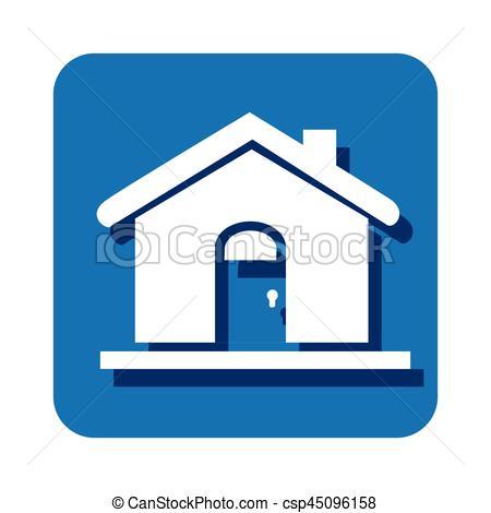 450x470 Square Button Silhouette House Icon Design Vector Clipart
