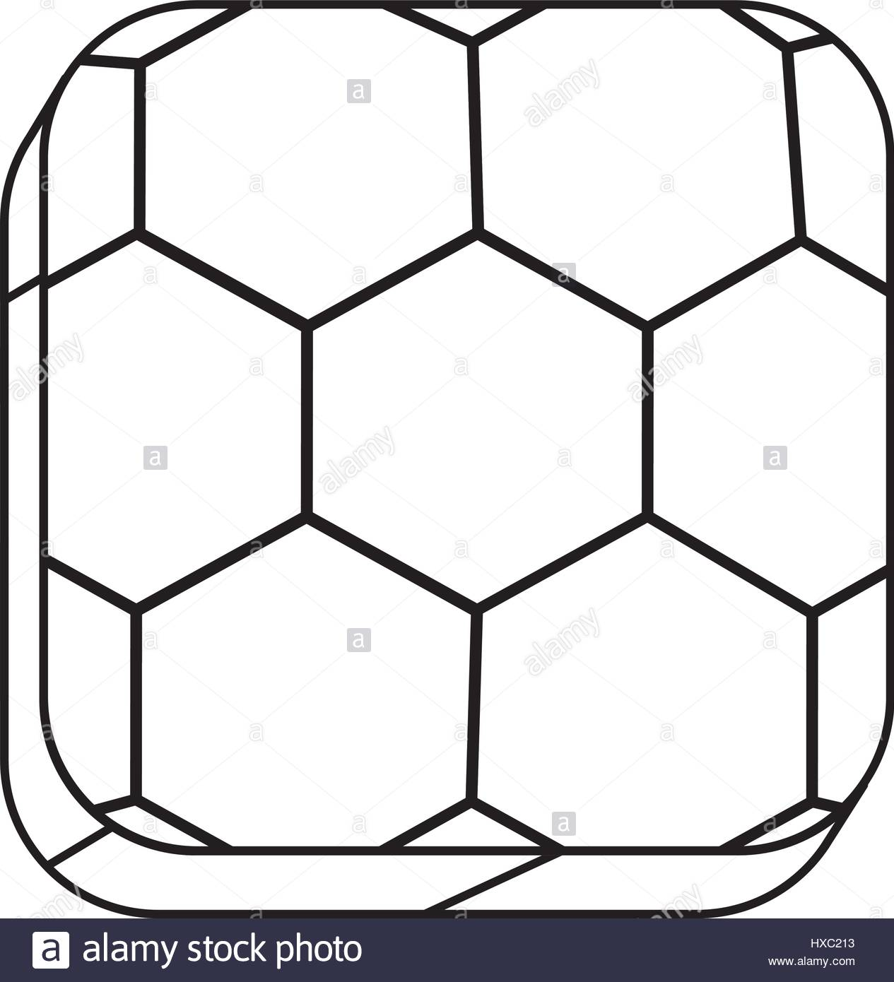 1265x1390 Square Silhouette Button With Contour Soccer Shape Ball Stock