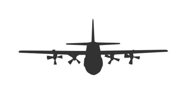 600x301 5 Airplane Front View Silhouette Vector (Esp, Svg)