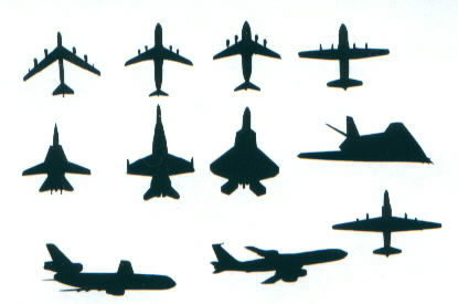 415x275 Vinyl Military Aircraft Decals For Your Car, Windows Or Helmets