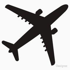 236x236 Airplane Silhouette Stencil Tattoo Airplanes
