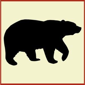 300x300 Black Bear Clipart Cabin