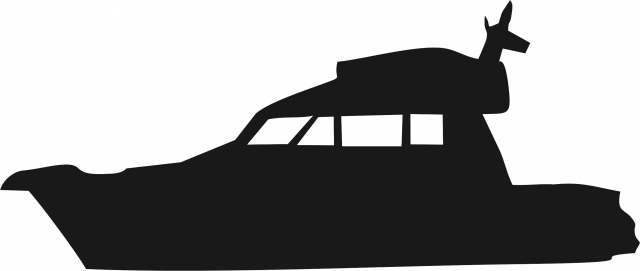 640x271 Cabin Cruiser Silhouette Laser Cut Appliques