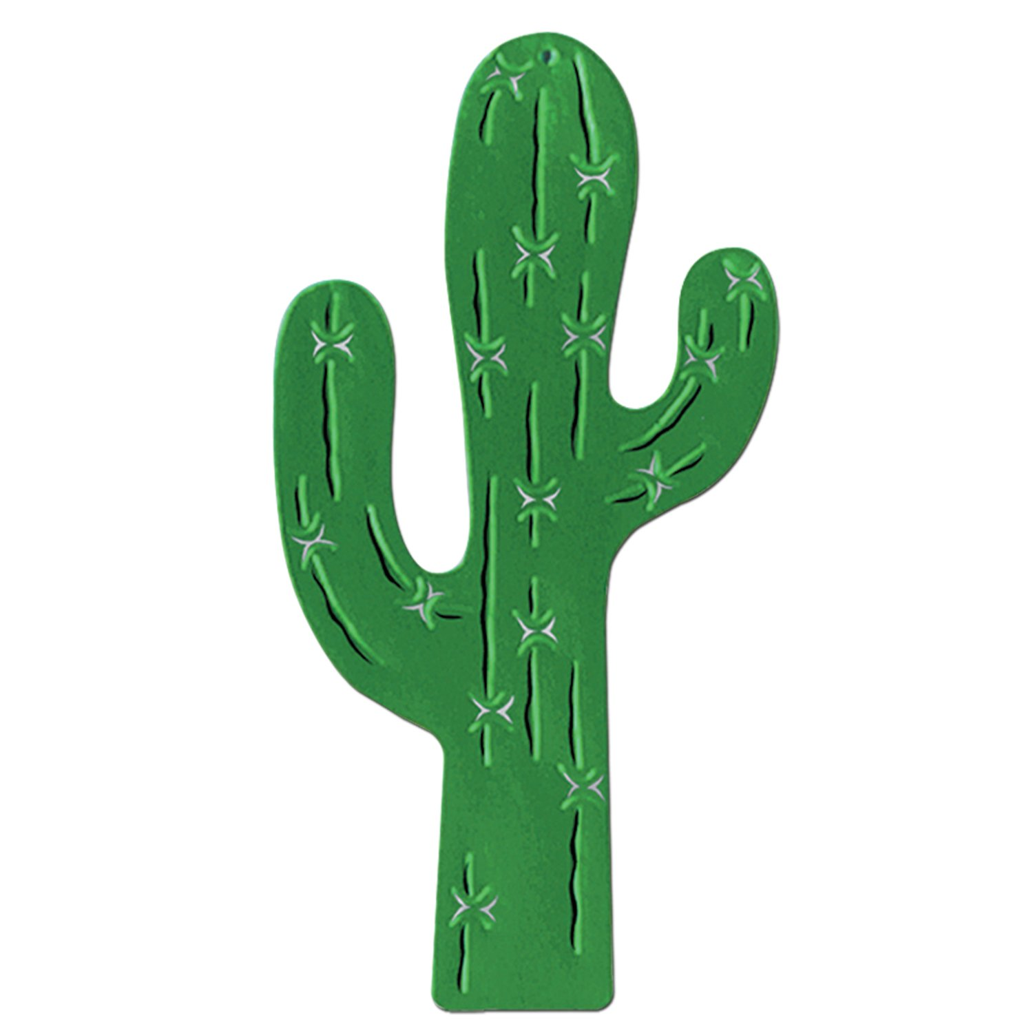 1500x1500 24ct) Beistle Western Party Foil Cactus Silhouette