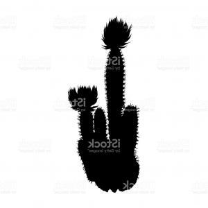 300x300 Cute Cactus Icon Silhouette Vector Illustration Shopatcloth