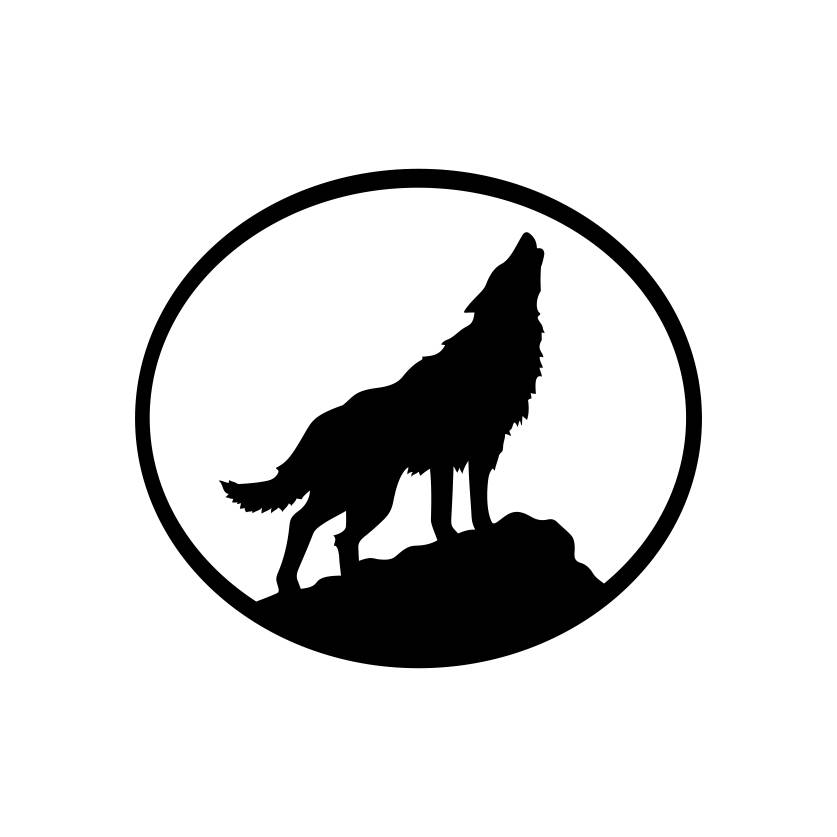 837x837 Wolf Howling Oval Animal Graphics Svg Dxf Eps Png Cdr Ai Pdf