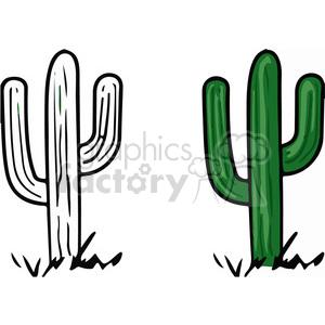 300x300 Royalty Free Desert Cactus 151735 Vector Clip Art Image
