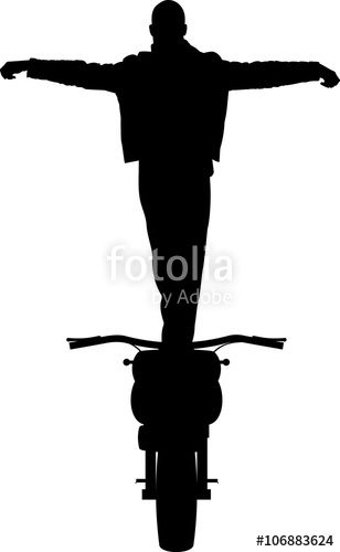 308x500 Staying On Cafe Racer Motorcycle Full Height Hands Raising Front