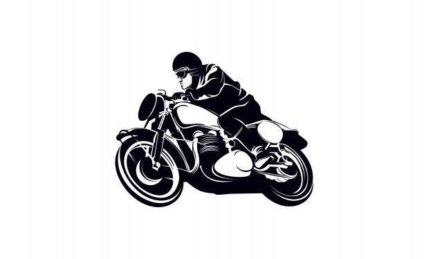 626x375 Vintage Cafe Racer Motorcycle Logo Vector Premium Download