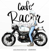 170x177 Big Dog Riding Cafe Racer Motorcycle Smallumbrella's Doodle