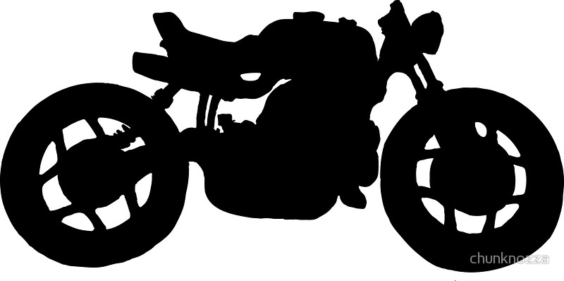 800x398 Cafe Racer Bobber Bike Stickers By Chunknozza Redbubble
