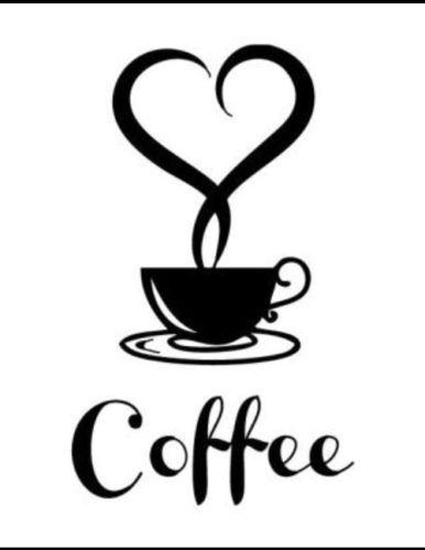 386x499 Coffee Station Cafe Kitchen Vinyl Decalsticker Walls Windows