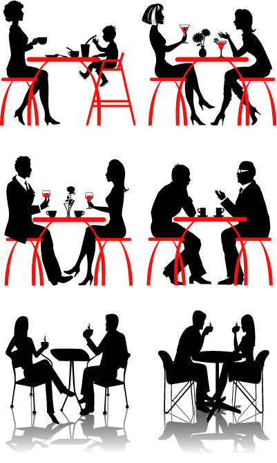 401x669 Coffee People Silhouette Vector Free Vector 4vector