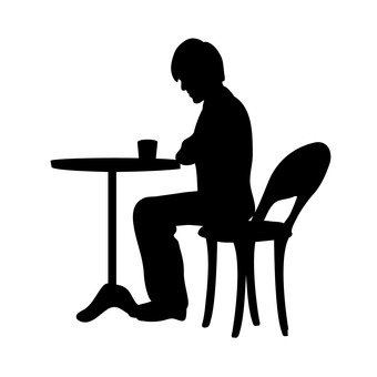 340x340 Free Silhouette Vector Cafe, Icon