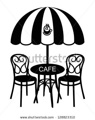 371x470 Vector Street Cafe, Silhouette Cafe Sign By Ensieh, Via