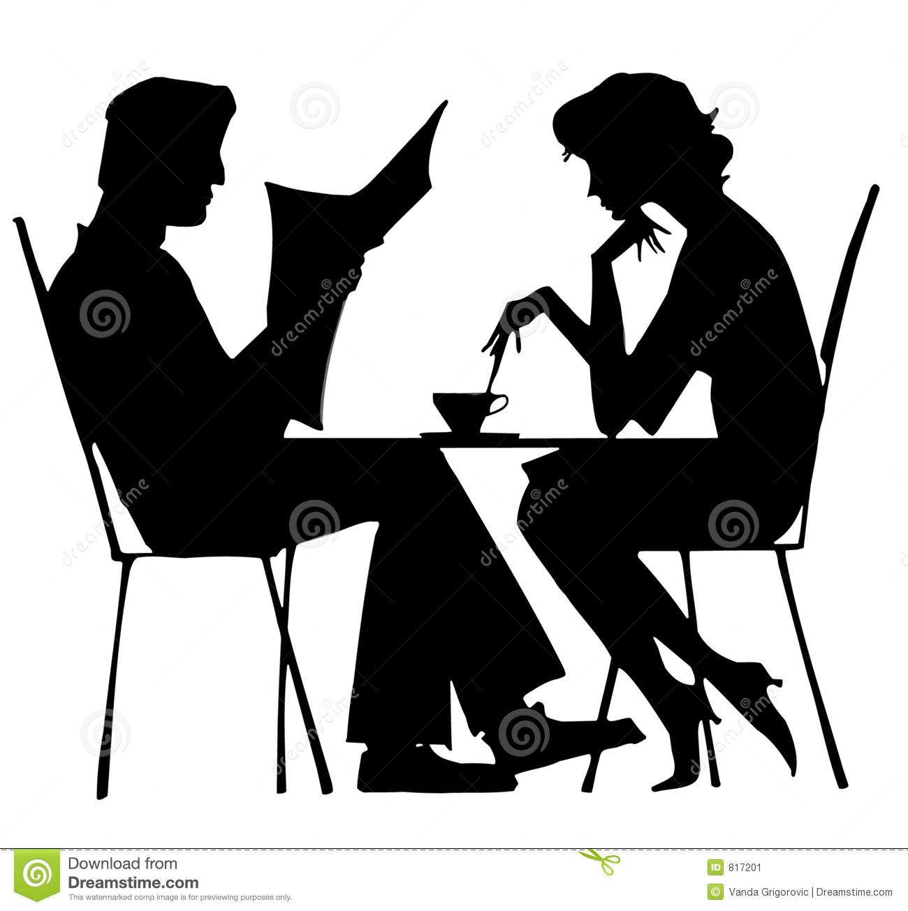 1300x1305 Cafe Silhouette Couple
