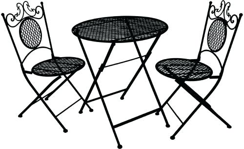 500x305 Cafe Table And Chairs Clipart