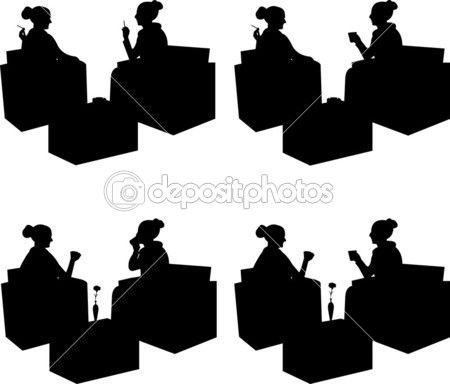 450x384 Cafe Tables Silhouette