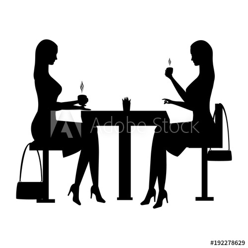 500x500 Woman Sits In A Cafe