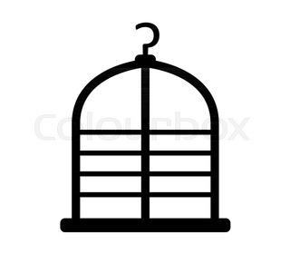 320x280 Bird Cage Stock Vector Colourbox