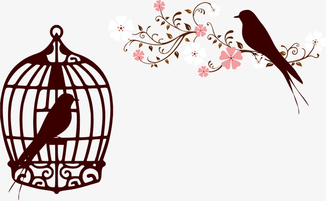 650x400 Brown Bird Cage Silhouette, Caged Bird, The Cage Birds
