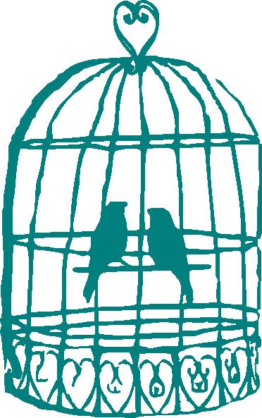 372x593 Love Birds In Cage Clip Art