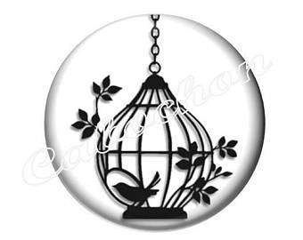 340x270 Silhouette Bird Cage Silhouette Clip Art Bird Clip Art