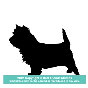 300x300 Cairn Terrier Dog Silhouette Gifts, Stationery, Address Labels