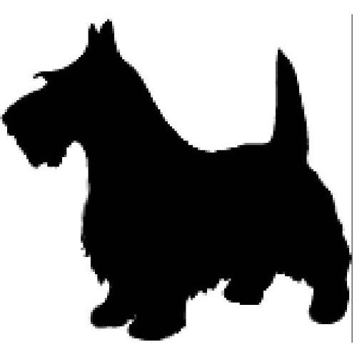 500x500 Scottie Dog Silhouette Scottie Dogs Art Scottish Terriers