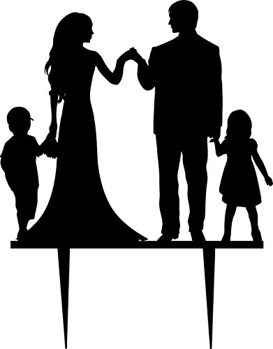 391x500 Personalized Wedding Cake Topper Silhouette Groom And Bride