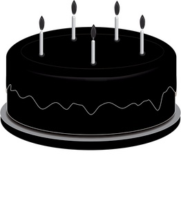 262x300 Silhouette Cake Clipart
