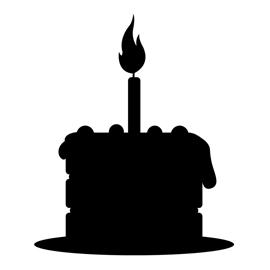 270x270 Cake Clip Art Silhouette ~ Perfectend