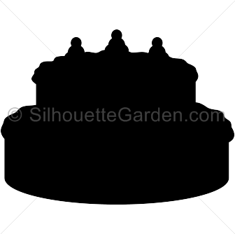 336x334 Cake Silhouette Clip Art. Download Free Versions Of The Image