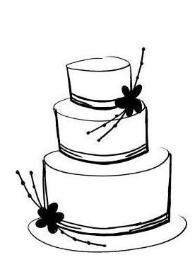 276x377 Clip Art Wedding Cake Silhouette