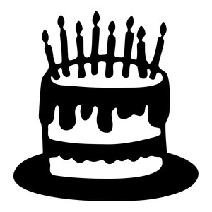 Cake Silhouette Clip Art at GetDrawings | Free download