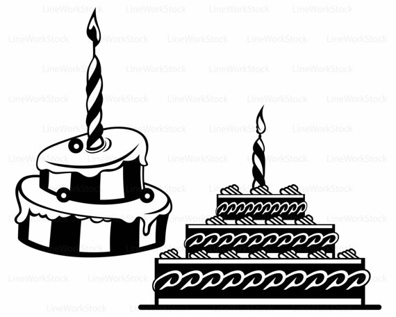 570x456 Cake Candle Svgsweets Clipartfood Svgcake Silhouettecake