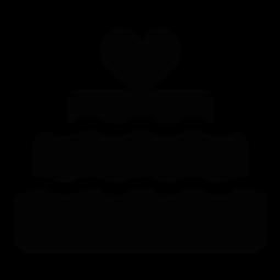 255x255 Clip Art Wedding Cake Silhouette